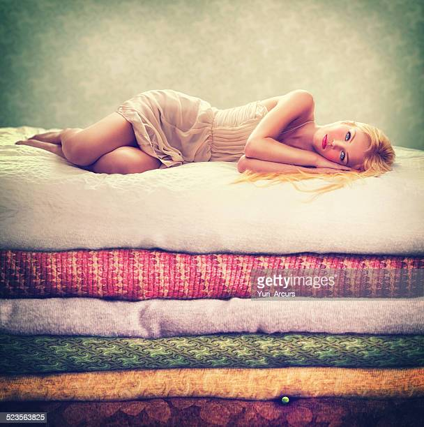 is there a pea under these? - big beautiful women stock pictures, royalty-free photos & images