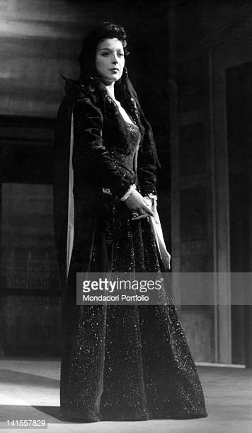 Isa Barzizza in the part of Olivia in 'Twelfth Night' by William Shakespeare directed by Orazio Costa and Renato Castellani at the Teatro Manzoni...