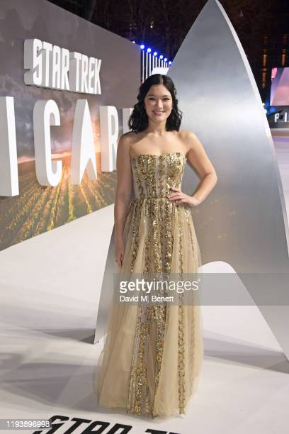 Isa Briones attends the European Premiere of Amazon Original Star Trek Picard at Odeon Luxe Leicester Square on January 15 2020 in London England