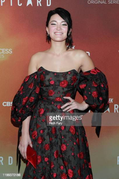 Isa Briones attends the premiere of CBS All Access' Star Trek Picard at ArcLight Cinerama Dome on January 13 2020 in Hollywood California