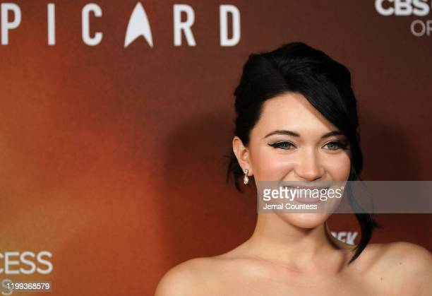 Isa Briones attends the premiere of Star Trek Picard at ArcLight Cinerama Dome on January 13 2020 in Hollywood California
