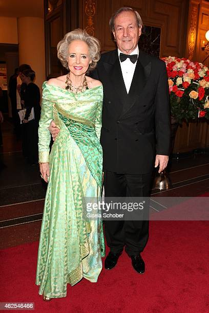 isa Graefin Hardenberg and her husband Andreas Graf Hardenberg during the Semper Opera Ball 2015 at Semperoper on January 30 2015 in Dresden Germany