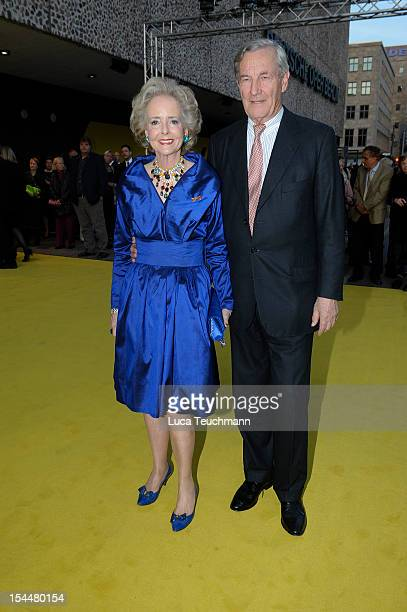 Isa Graefin von Hardenberg and Alexander Graf von Hardenberg arrives to the '100 Years German Oper Jubilee' at the Oper Berlin on October 20 2012 in...