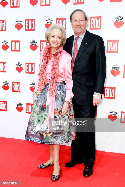Isa Graefin von Hardenberg and her husband Andreas Graf von Hardenberg attend the 'Ein Herz fuer Kinder Gala' at Studio Berlin Adlershof on December...