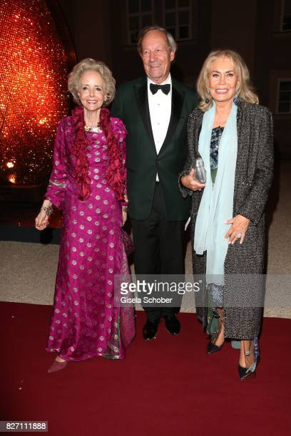Isa Graefin von Hardenberg and her husband Andreas Graf von Hardenberg Renate Thyssen Henne attend the 'Aida' premiere during the Salzburg Opera...