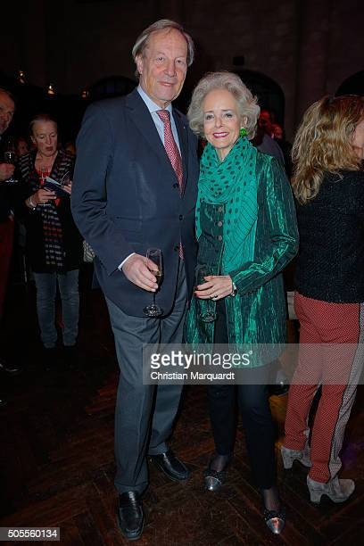 Isa Graefin von Hardenberg ansd husband Andreas Graf von Hardenberg attend the New Years Reception of the Sueddeutsche Zeitung at Humboldt Carre on...
