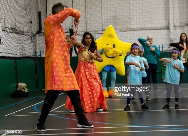 Isa Guha attends an All Stars Cricket session as part of the ECB's South Asian Action plan Sport England funding announcement on November 20 2018 in...
