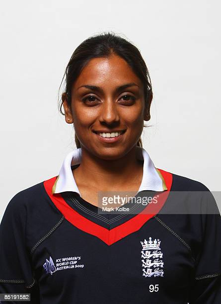 Isa Guha of England poses ahead of the ICC Women's World Cup 2009 at the Menzies Hotel on March 3 2009 in Sydney Australia
