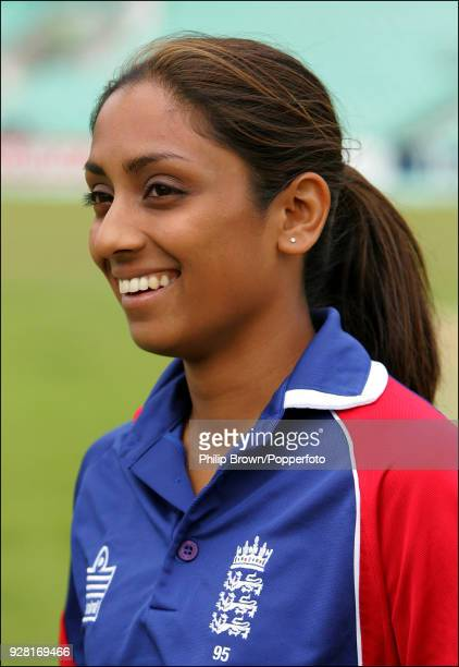 Isa Guha of England Women at The Oval London 27th June 2007