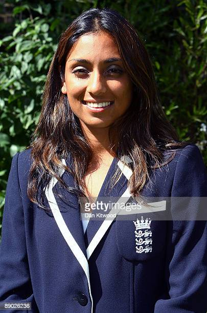 Isa Guha of the England Women's Cricket Team poses for a picture at Downing Street on July 14 2009 in London England England retained the ashes with...