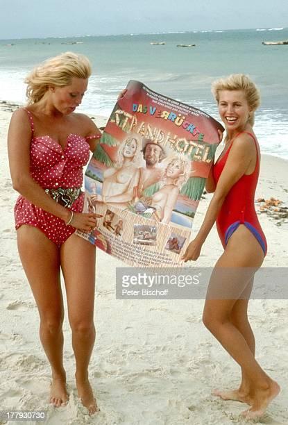 """Isa Haller , Bea Fiedler , vor der Premiere vom Kino-Film """"Das verrückte Strandhotel"""", bei TV-Ausstrahlung umbenannt in """"Dirndljagd am..."""