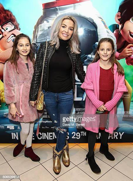 Isa Rivas Elen Rivas and Luna Coco Rivas attend a Gala Screening of Capture The Flag at Vue West End on January 24 2016 in London England