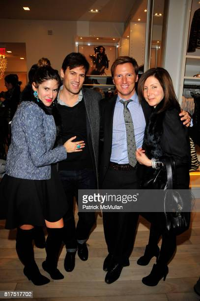 Isa Tapia Andrew Taylor and Laura Pellegrini attend Ann Taylor Flatiron Store Opening at Ann Taylor NYC on December 2 2010 in New York City