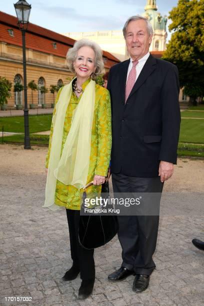 Isa von Hardenberg and Alexander von Hardenberg attend the reopening of the Berggruen Museum at Schloss Charlottenburg on June 7 2013 in Berlin...