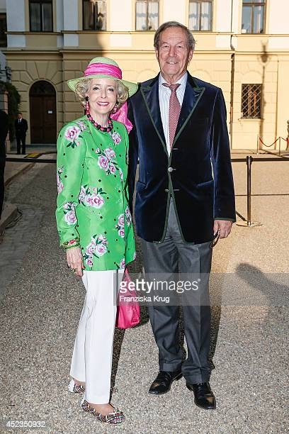 Isa von Hardenberg and Alexander von Hardenberg attend the Thurn Taxis Castle Festival 2014 Rigoletto on July 18 2014 in Regensburg Germany