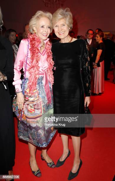 Isa von Hardenberg and Friede Springer attend the Ein Herz Fuer Kinder Gala reception at Studio Berlin Adlershof on December 9 2017 in Berlin Germany