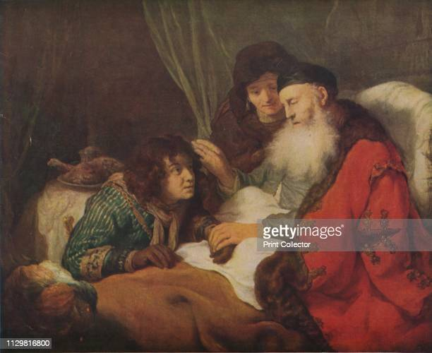 Isaac Blessing Jacob' circa 1638 Biblical scene Jacob pretending to be his brother Esau tricked their blind father into bestowing Esau's rightful...