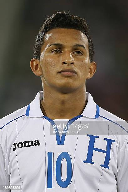 Isaac Borjas of Honduras during the Group A FIFA U17 World Cup match between Honduras and Brazil at Ras Al Khaimah Stadium on October 23 2013 in Ras...