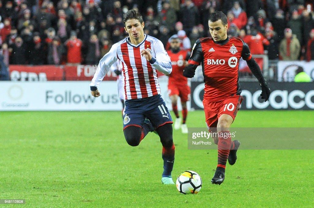 Toronto FC v Chivas - CONCACAF Champions League 2018 - Final - Leg 1 : News Photo