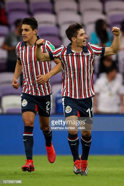 e9067088bbd Isaac Brizuela of CD Guadalajara celebrates after scoring a goal to make it  01 during the