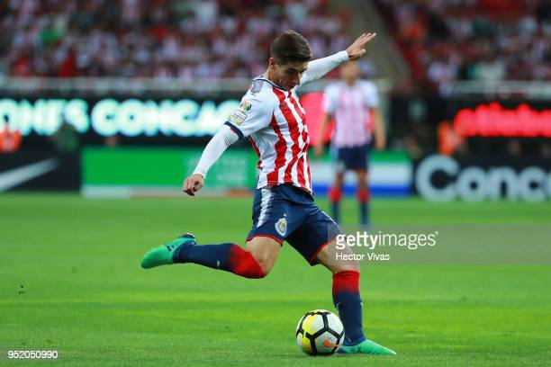 Isaac Brizuela of Chivas drives the ball during the second leg match of the final between Chivas and Toronto FC as part of CONCACAF Champions League...