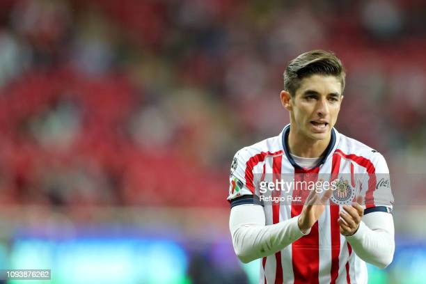 Isaac Brizuela of Chivas looks on during the fifth round match between Chivas and Veracruz as part of the Torneo Clausura 2019 Liga MX at Akron...