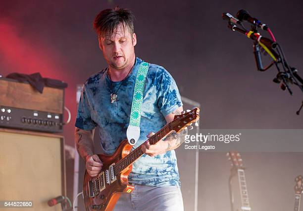 Isaac Brock of Modest Mousde performs at DTE Energy Music Theater on July 3 2016 in Clarkston Michigan