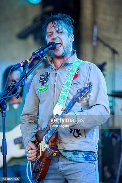 Isaac Brock of Modest Mouse performs at DTE Energy Music Theater on July 3 2016 in Clarkston Michigan