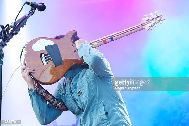 Isaac Brock of Modest Mouse performs onstage during the third day of the Bravalla Festival on June 27, 2015 in Norrkoping, Sweden.