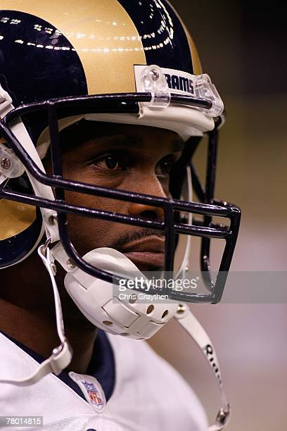 Isaac Bruce of the St Louis Rams looks on against the New Orleans Saints on November 11 2007 at the Louisiana Superdome in New Orleans Louisiana
