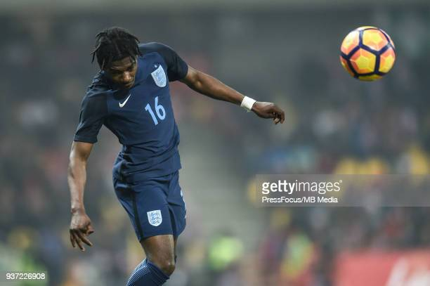 Isaac BuckleyRicketts of England during the U20 Elite League match between Poland and England at the Municipal Stadium on March 22 2018 in...