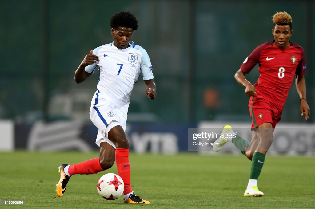 Isaac Buckley-Ricketts of England in action during the UEFA European Under-19 Championship Final between England and Portugal on July 15, 2017 in Gori, Georgia.