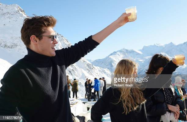 Isaac Carew and guests attend Casamigos in the Snow on December 04 2019 in Verbier Switzerland