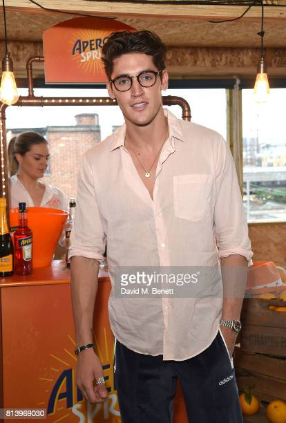 Isaac Carew attends the Aperol Spritz Social on July 13 2017 in London England