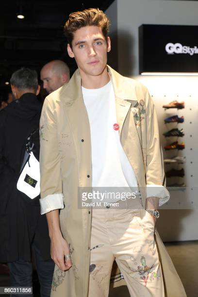 Isaac Carew attends the launch of the GQ Style Autumn/Winter issue at 18montrose Kings Cross on October 11 2017 in London England