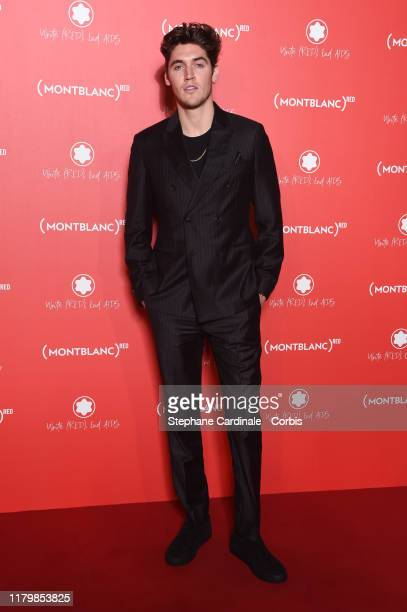 Isaac Carew attends the Montblanc : Launch Collection To Benefit RED on October 08, 2019 in Paris, France.