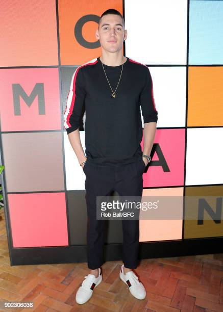 Isaac Carew attends the TOPMAN LFWM Party during London Fashion Week Men's January 2018 at Mortimer House on January 7 2018 in London England