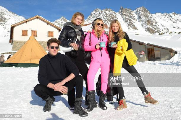 Isaac Carew Florence Kosky Laura Whitmore and Lily Traver attends Casamigos in the Snow on December 04 2019 in Verbier Switzerland