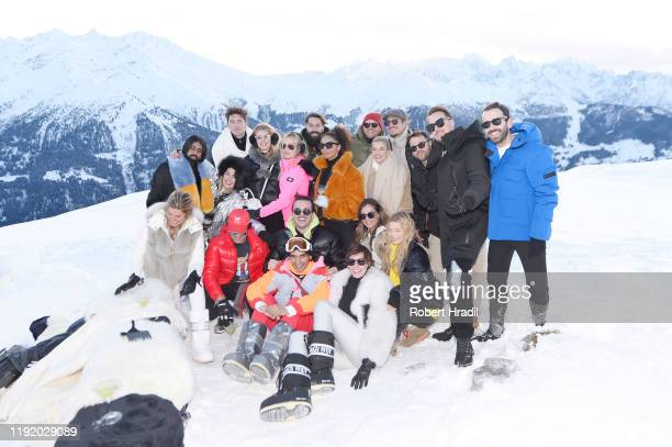 Isaac Carew Florence Kosky Lily Travers and guests attend Casamigos in the Snow on December 04 2019 in Verbier Switzerland