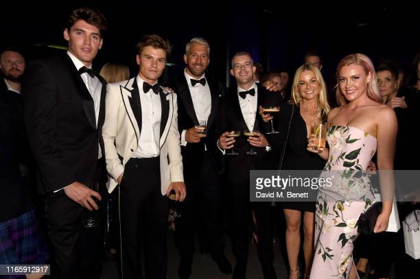 Isaac Carew Oliver Cheshire Chris Robshaw Russell Tovey Sarah Hadland and Camilla Kerslake attend the the GQ Men Of The Year Awards 2019 in...