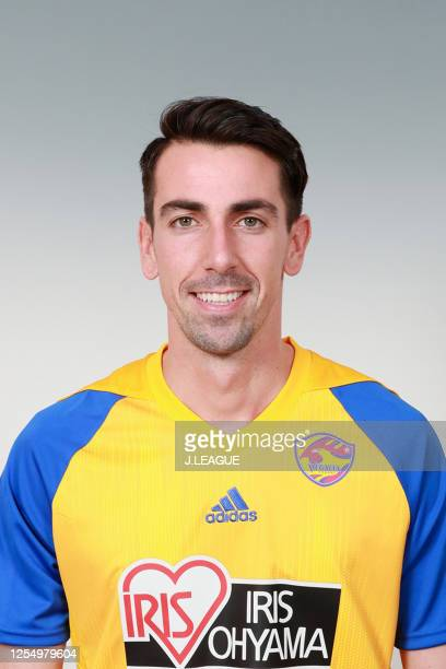 Isaac Cuenca poses for photographs during the Vegalta Sendai portrait session on January 9, 2020 in Japan.
