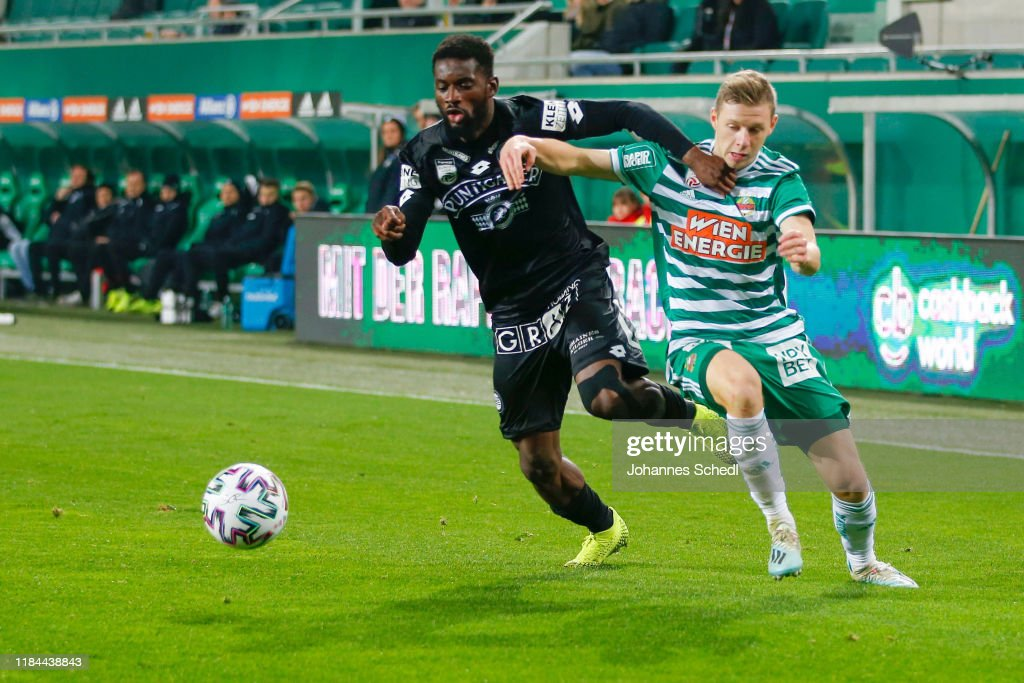 Isaac Donkor Of Sturm Graz And Maximilian Ullmann Of Rapid During The News Photo Getty Images