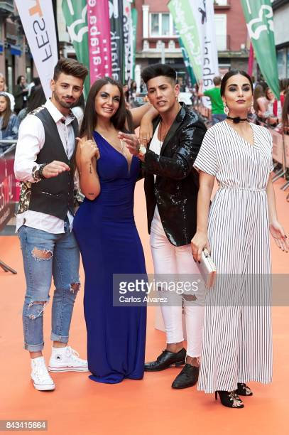 Isaac Elettra Lamborghini Ferre and Adela attend MTV Shore premiere at the Principal Teather during the FesTVal 2017 on September 6 2017 in...