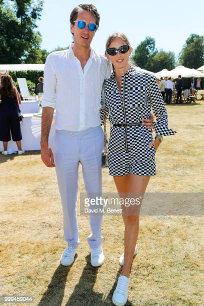 Isaac Ferry and Alice Manners attend Cartier Style Et Luxe at The Goodwood Festival Of Speed Goodwood on July 15 2018 in Chichester England