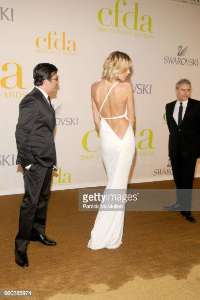 Isaac Franco Anja Rubik and Ken Kaufman attend CFDA AWARDS 2009 ARRIVALS at Alice Tully Hall on June 15 2009 in New York City
