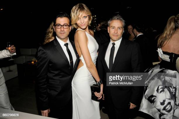 Isaac Franco Anja Rubik and Ken Kaufman attend CFDA AWARDS 2009 INSIDE at Alice Tully Hall on June 15 2009 in New York