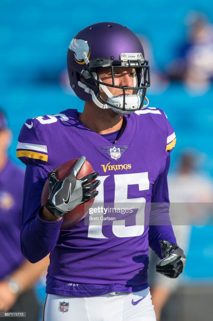 differently 8fbc6 2ecc4 Isaac Fruechte of the Minnesota Vikings warms up before the ...