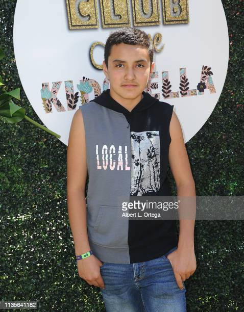 Isaac Gonzalez arrives for Clubhouse Kidchella held at Pershing Square on April 6 2019 in Los Angeles California