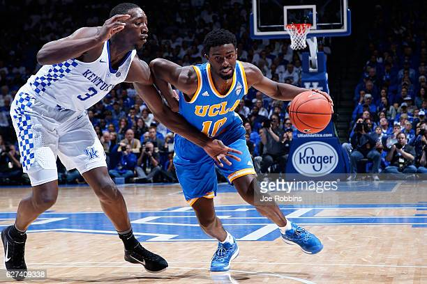 Isaac Hamilton of the UCLA Bruins drives to the basket against Bam Adebayo of the Kentucky Wildcats in the second half of the game at Rupp Arena on...