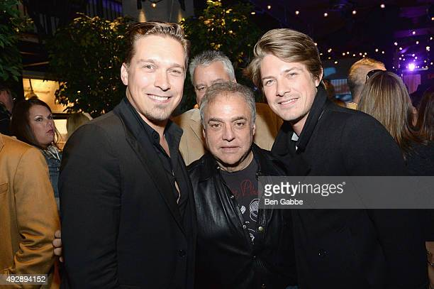 Isaac Hanson Lee Schrager and Taylor Hanson attend Tacos Tequila presented by Mexico hosted by Aaron Sanchez during Food Network Cooking Channel New...